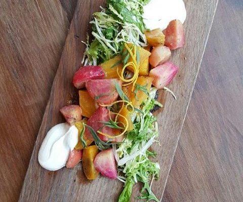 Beet Salad Wood Plate