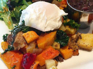 Veggie Hash w:poached Egg Best Veggie based Dishes
