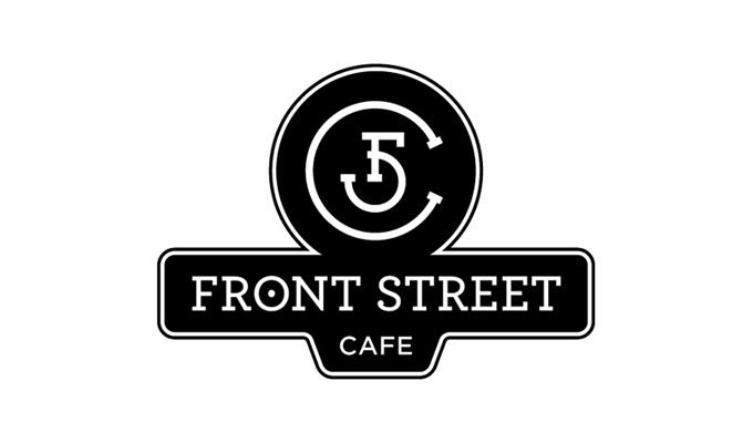 Front Street Cafe Street Sign Logo