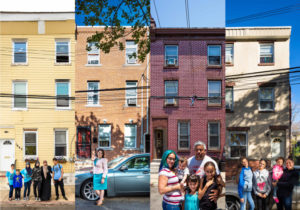 Residents of N. Cadwallader Street in the South Kensington neighborhood of Philadelphia PA pose for Philly Block Project artists Hank Willis Thomas and Wyatt Gallery in June, 2016.