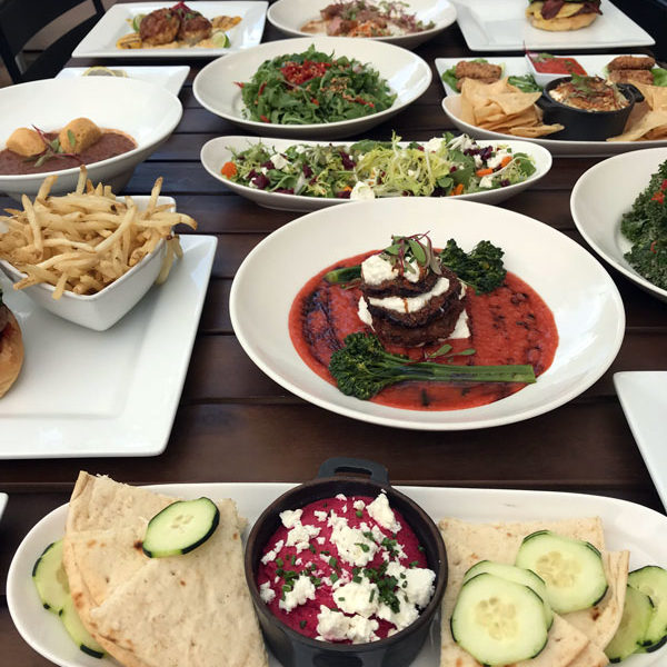 Food Plates at Front Street Cafe